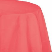 Coral Round Paper Tablecloths