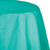 Teal Lagoon Octy-Round Paper Tablecloths 12 ct