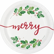 Seasons Greetings Dinner Plates 96 ct