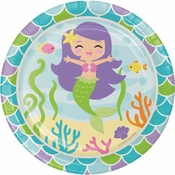 Mermaid Friends Dessert Plates 96 ct