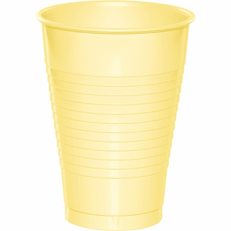 Touch of Color Mimosa 12 oz Plastic Cups in quantities of 20 / pkg, 12 pkgs / case