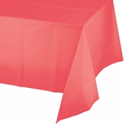 Coral Plastic Tablecloths 12 ct