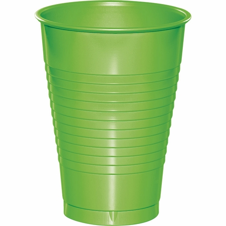 Touch of Color Fresh Lime 12 oz Plastic Cups 288 ct in quantities of 20 / pkg, 10 pkgs / case