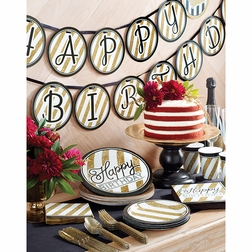 Black and Gold Birthday Party Supplies