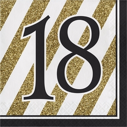 Black and Gold 18th Birthday Party Supplies