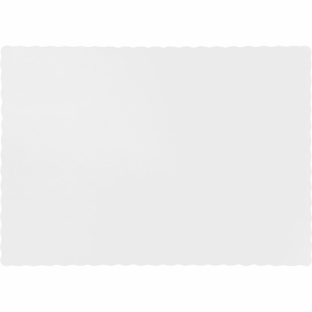 Touch of Color White Paper Placemats in quantities of 50 / pkg, 12 pkgs / case
