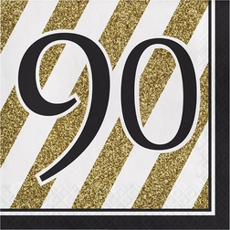 Black and Gold 90th Birthday Party Supplies