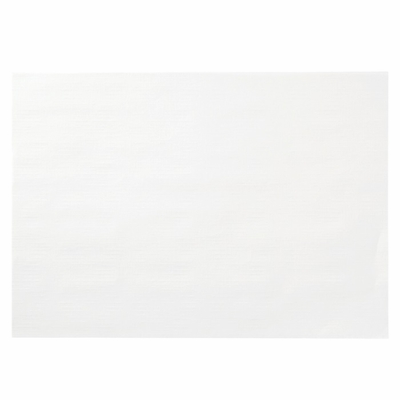 "White Homespun 10"" x 14"" Placemat with straight, clean edges on white background in quantities of 1,000 / case. Flat pack."