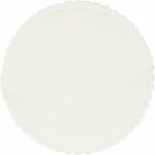 White Cellulose Coasters sold in quantities of 1000 / pkg, 1 pkg / case.