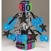 Milestone Celebrations 80th Birthday Centerpieces 6 ct