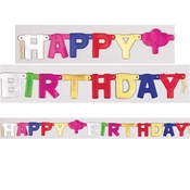 Small Happy Birthday Party Banners 12 ct