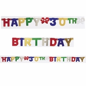 30th Birthday Party Banners 12 ct