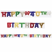 40th Birthday Party Banners 12 ct