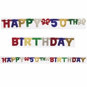 50th Birthday Party Banners 12 ct