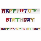 70th Birthday Party Banners 12 ct