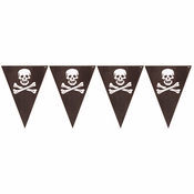 Pirates Map Flag Banners 12 ct