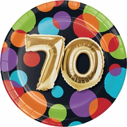 Balloons 70th Birthday Party Supplies