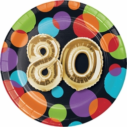 Balloons 80th Birthday Party Supplies
