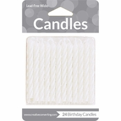 White Striped Candles 288 ct