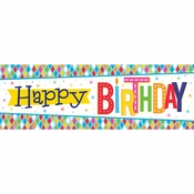 Bright Birthday Giant Party Banners 6 ct