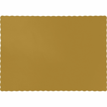 Touch of Color Glittering Gold Paper Placemats in quantities of 50 /pkg, 12 pkgs / case