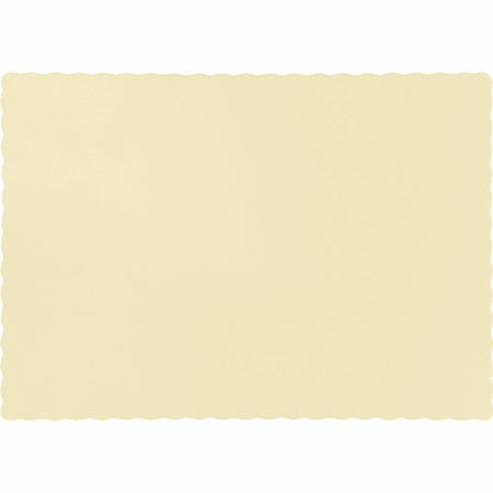 Touch of Color Ivory Paper Placemats in quantities of 50 / pkg, 12 pkgs / case