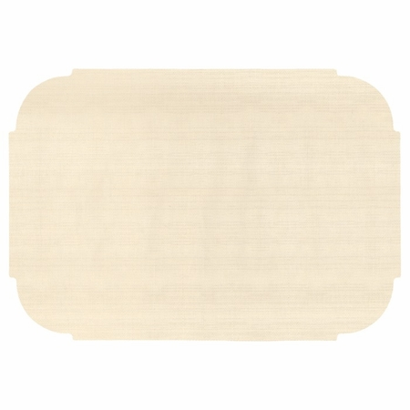 "Ecru 9.75"" x 14"" Decorator Placemat, Linenized texture, flat packed in quantities of 1000 / case"