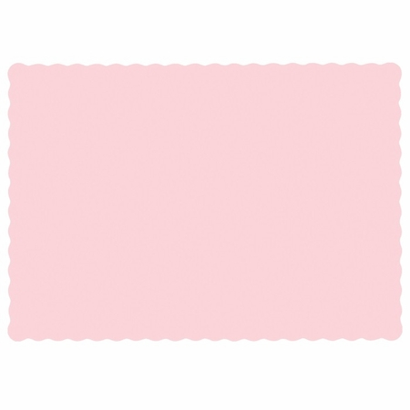 """Pink 9.5"""" x 13.5"""" Economy Paper Placemat, flat packed in quantities of 1000 / case"""