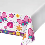 Butterfly Garden Plastic Tablecloths 12 ct