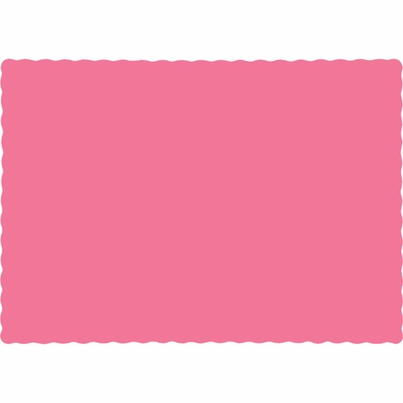 Touch of Color Candy Pink Paper Placemats in quantities of 50 / pkg, 12 pkgs / case