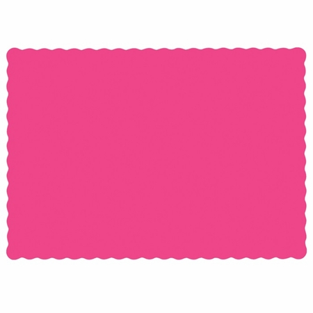 """Raspberry 9.5"""" x 13.5"""" Economy Paper Placemat, flat packed in quantities of 1000 / case"""