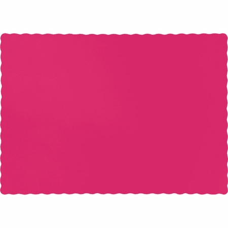 Touch of Color Hot Magenta Paper Placemats in quantities of 50 / pkg, 12 pkgs / case