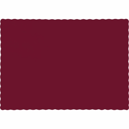 Touch of Color Burgundy Paper Placemats in quantities of 50 / pkg, 12 pkgs / case