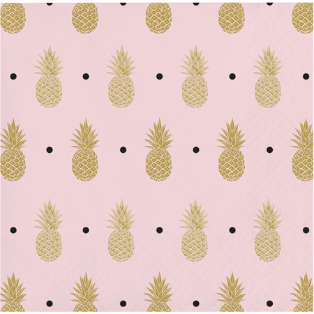 Golden Pineapple Beverage Napkins 192 ct