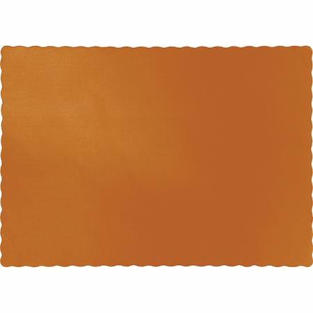 Pumpkin Spice Orange Paper Placemats 600 ct