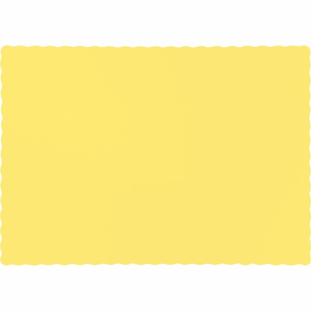 Touch of Color Mimosa Paper Placemats in quantities of 50 / pkg, 12 pkgs / case