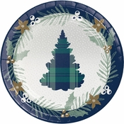 Holiday Tartan Dinner Plates 96 ct