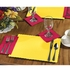 "10"" x 14"" Scalloped Sun Yellow Paper Placemats 1,000 ct"