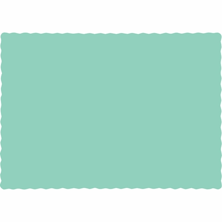 Fresh Mint Green Paper Placemats 600 ct
