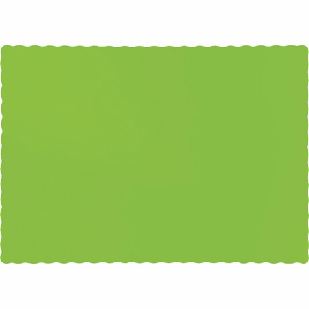 Touch of Color Fresh Lime Paper Placemats 600 ct in quantities of 50 / pkg, 12 pkgs / case