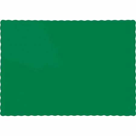 Touch of Color Emerald Green Paper Placemats in quantities of 50 / pkg, 12 pkgs / case
