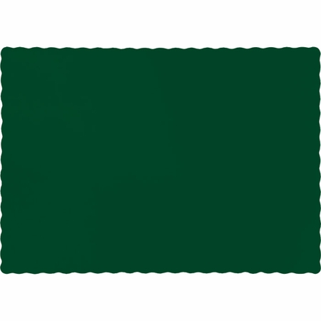 Touch of Color Hunter Green Paper Placemats in quantities of 50 / pkg, 12 pkgs / case