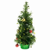 """16.75"""" Christmas Tree with Ornaments Centerpieces 6 ct"""