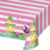 Pineapple Party Plastic Tablecloths 6 ct