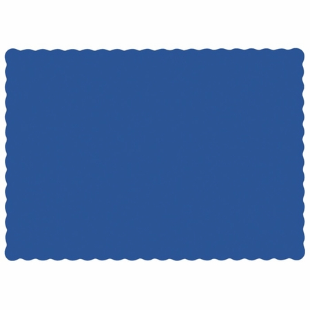 """Navy 9.5"""" x 13.5"""" Economy Paper Placemat, flat packed in quantities of 1000 / case"""