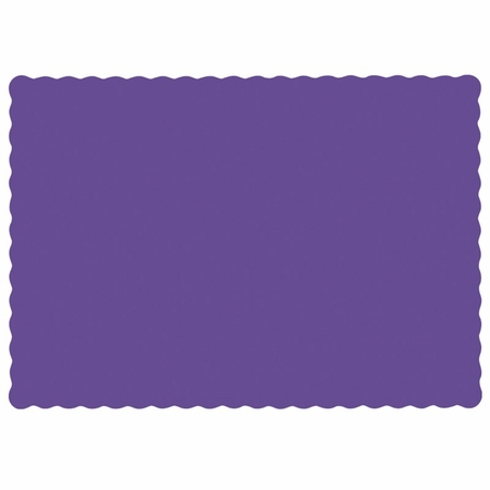 """Purple 9.5"""" x 13.5"""" Economy Paper Placemat, flat packed in quantities of 1000 / case"""