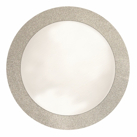 14 inch round Silver Glitz Placemat with Glitter Border is sold in bulk quantities of 8 / pkg, 12 pkgs / case