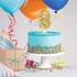 8 Gold Number Balloon Cake Toppers 12 ct
