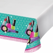 Sparkle Spa Party Plastic Tablecloths 6 ct