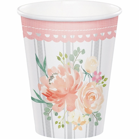 Country Floral Cups 96 ct